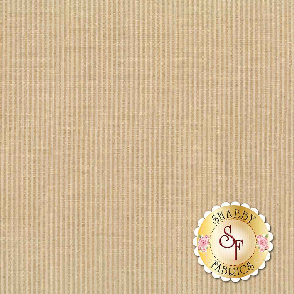 Tonal tan striped woven fabric | Shabby Fabrics