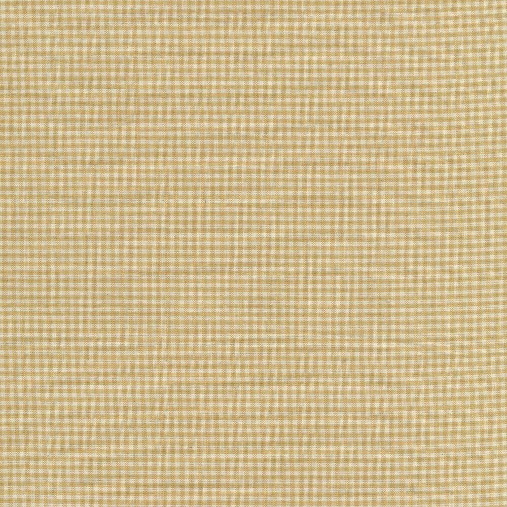 Tonal tan woven gingham fabric | Shabby Fabrics