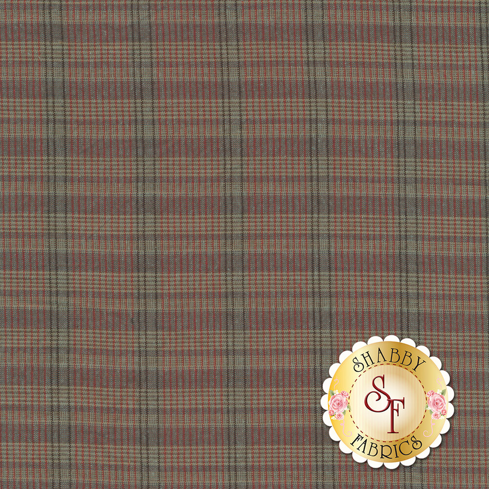 Woven red and black checkered fabric | Shabby Fabrics