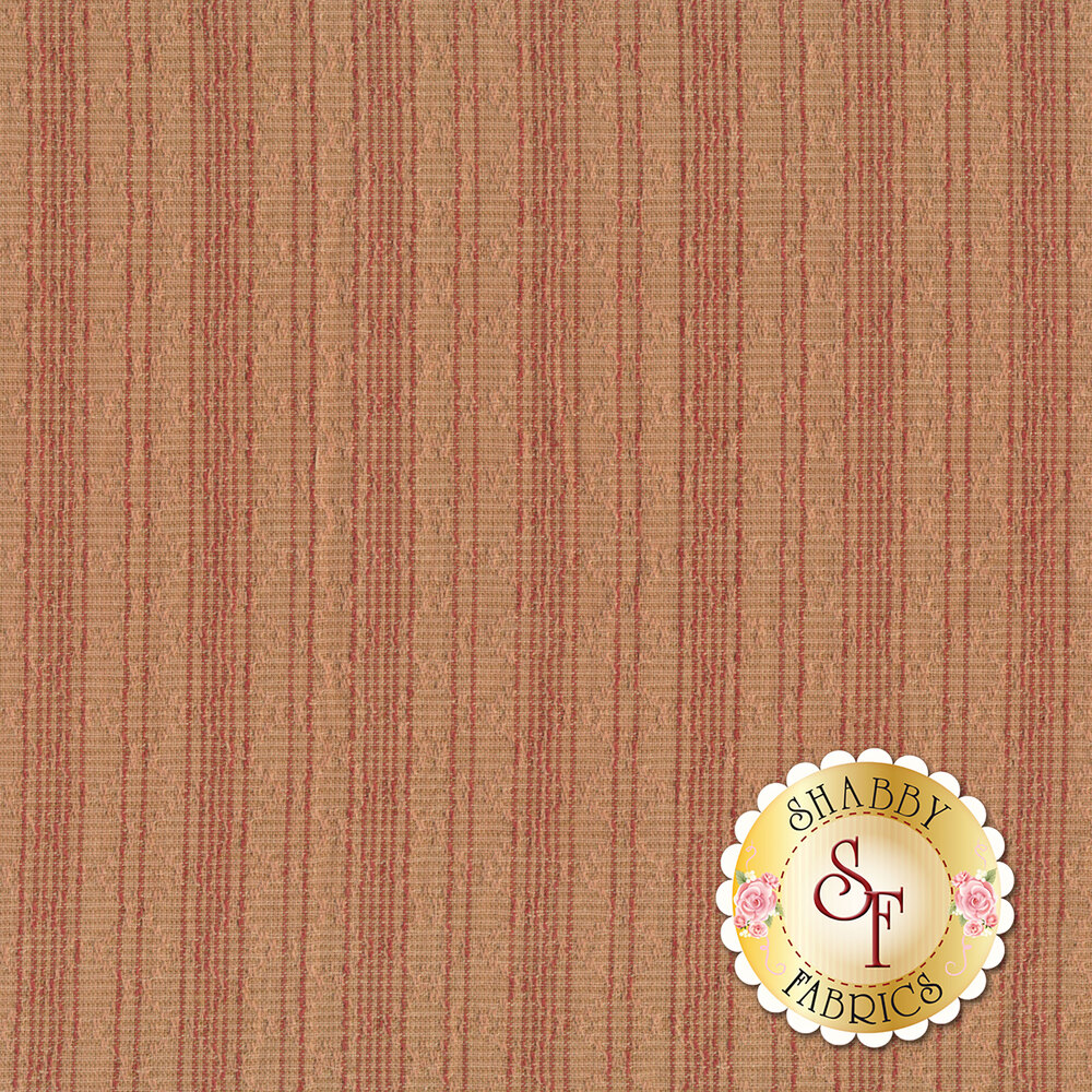 Dusty pink woven fabric with tonal stripes | Shabby Fabrics