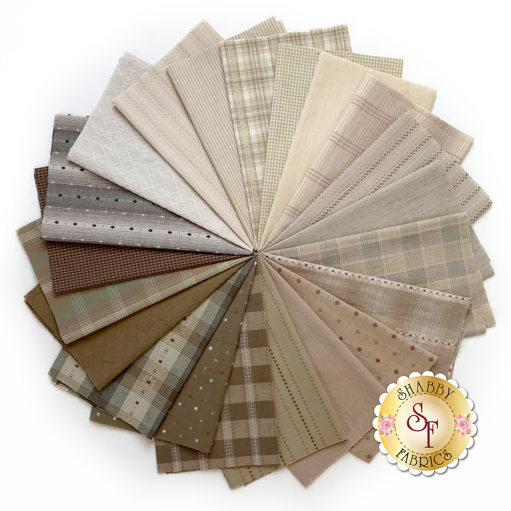 Collage of fabrics in Nikko Neutral Set | Shabby Fabrics