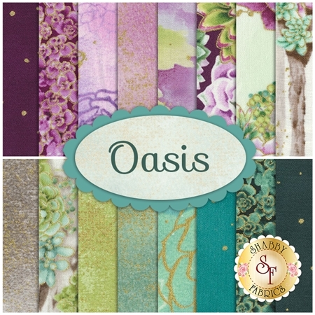 Oasis  16 FQ Set by Flaurie & Finch for RJR Fabrics