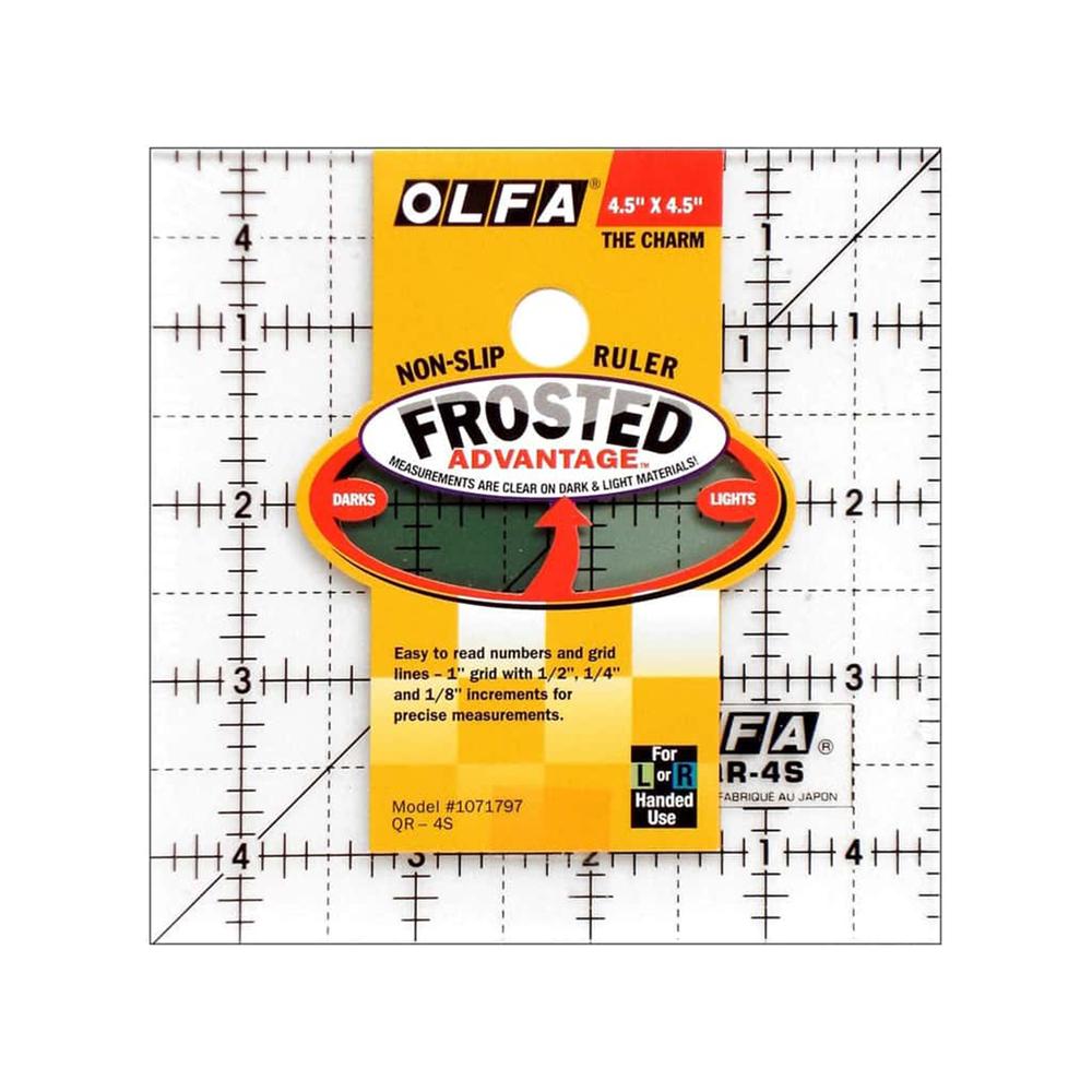 "Olfa Frosted Acrylic Ruler 4 1/2"" x 4 1/2"""