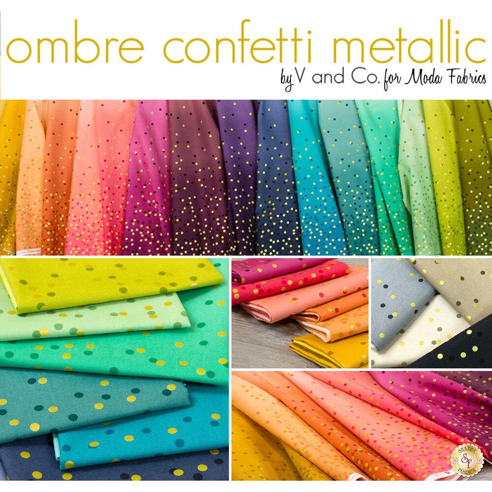 Ombre Confetti Metallic  20 FQ Set for Moda Fabrics