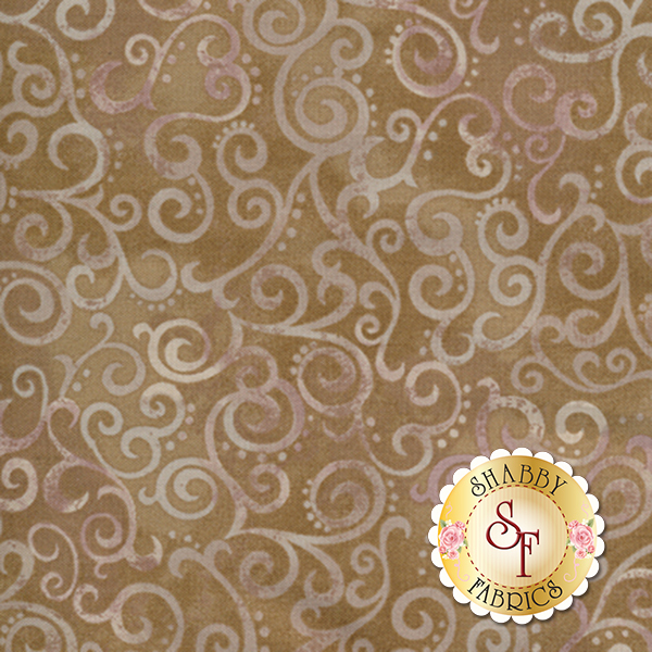 Ombre Scroll 24174-AK Taupe by Studio 8 for Quilting Treasures
