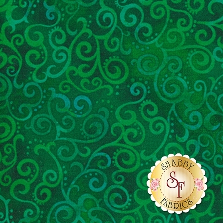 Ombre Scroll 24174-GF Kelly by Studio 8 for Quilting Treasures