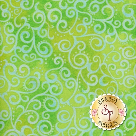 Ombre Scroll 24174-H Lime by Studio 8 for Quilting Treasures