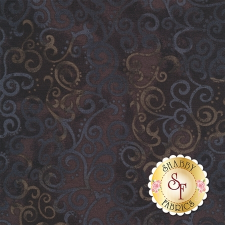 Ombre Scroll 24174-J Black by Studio 8 for Quilting Treasures