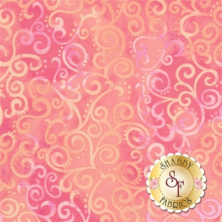 Ombre Scroll 24174-P Pink by Studio 8 for Quilting Treasures