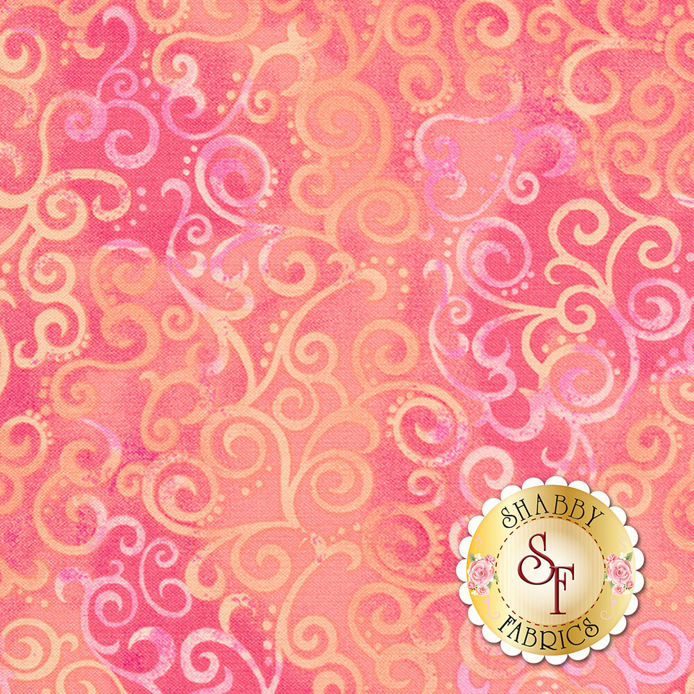 Ombre Scroll 24174-P by Quilting Treasures