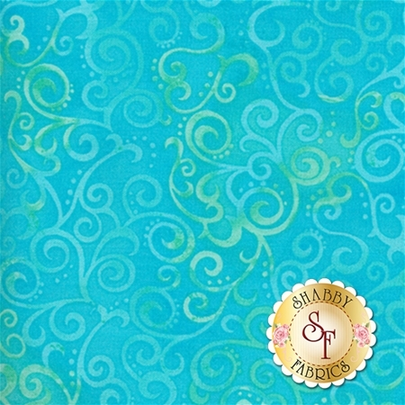 Ombre Scroll 24174-Q Marine by Studio 8 for Quilting Treasures
