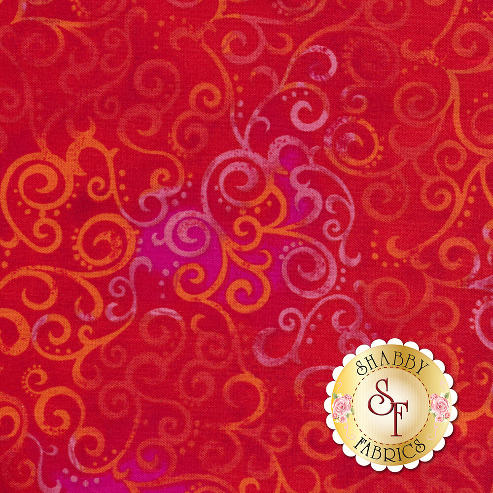 Ombre Scroll 24174-R by Quilting Treasures