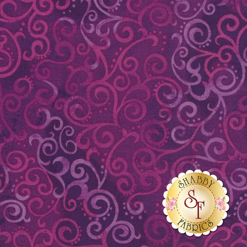 Ombre Scroll 24174-V Grape by Studio 8 for Quilting Treasures