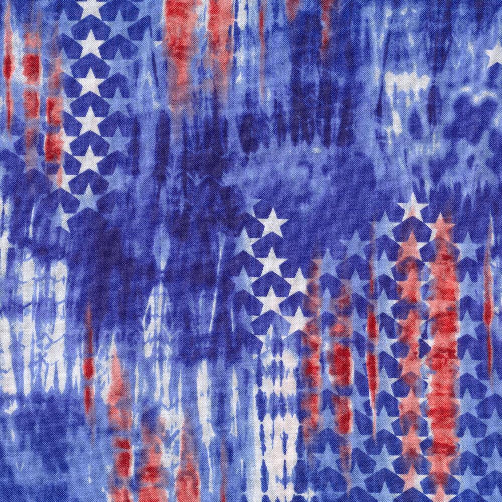 Tie dye with flag print | Shabby Fabrics