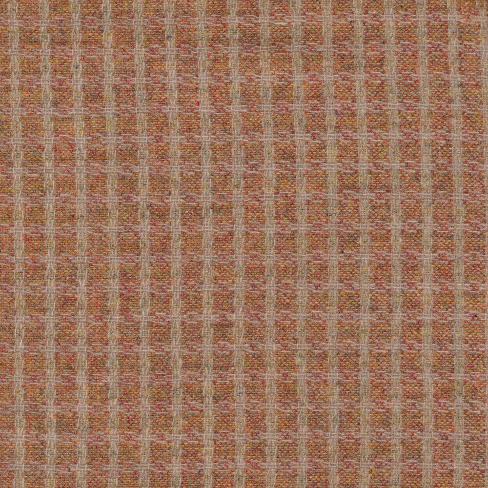 Orange and taupe plaid | Shabby Fabrics