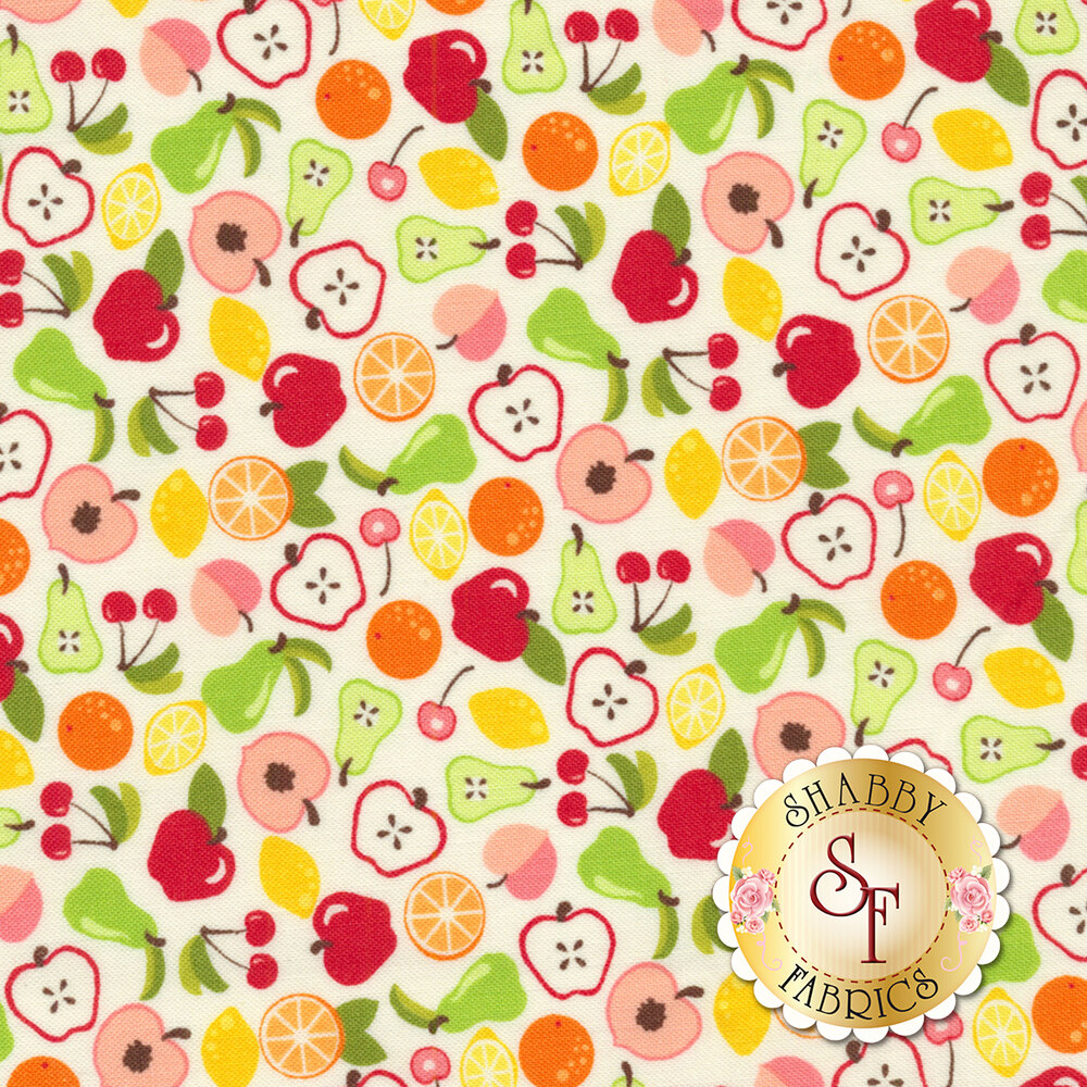 Orchard 24071-11 Bounty White by Moda available at Shabby Fabrics