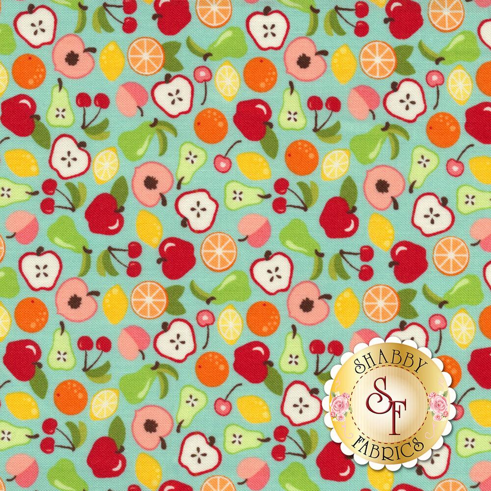 Orchard 24071-14 Bounty Sky Blue by Moda available at Shabby Fabrics