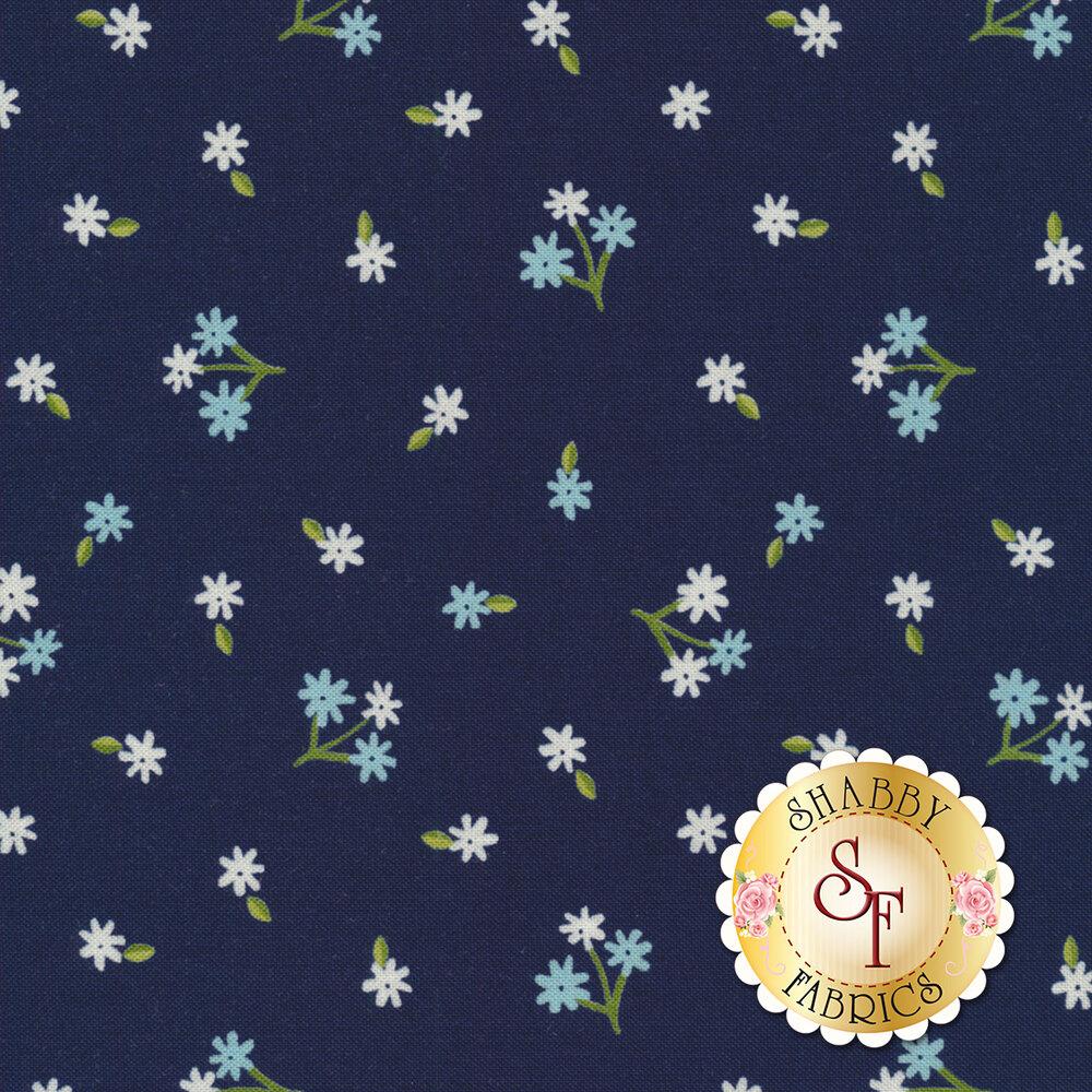 Orchard 24073-17 Tiny Bud Blueberry by Moda available at Shabby Fabrics