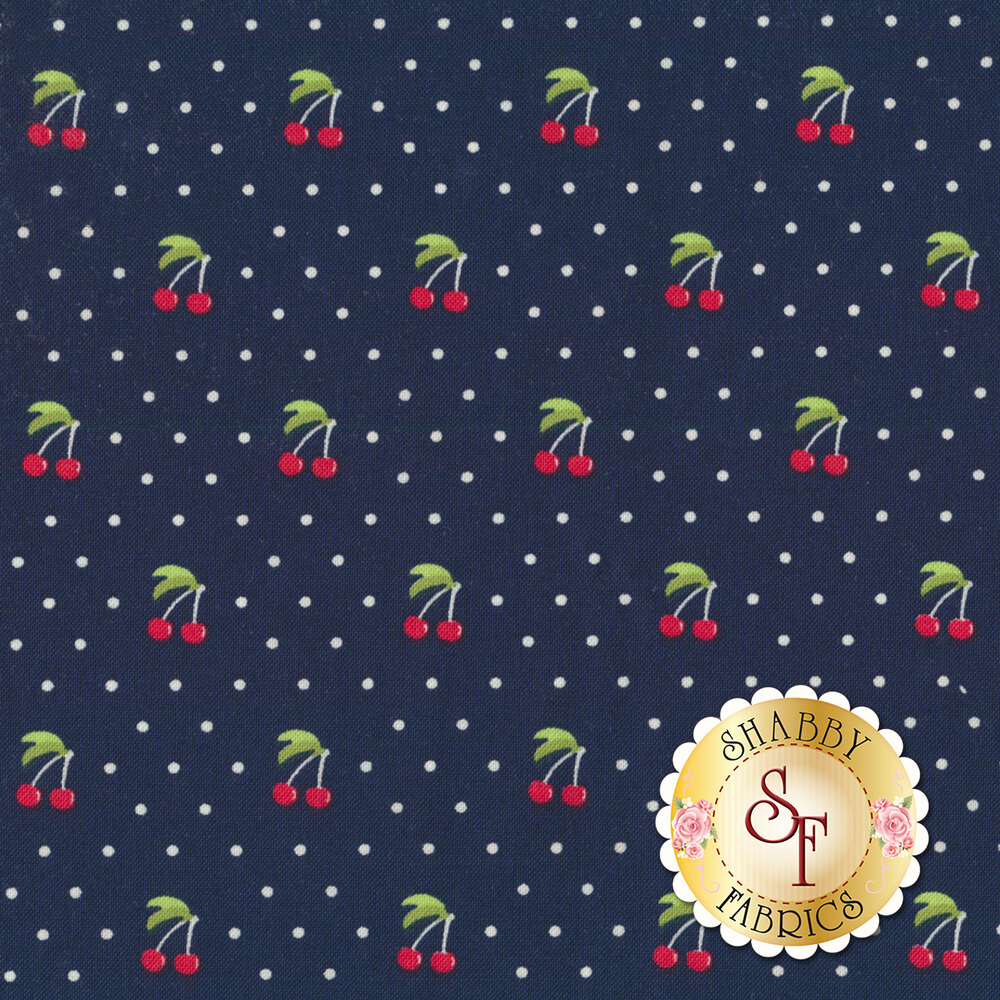 Orchard 24074-17 Cherry Pie Blueberry by Moda available at Shabby Fabrics