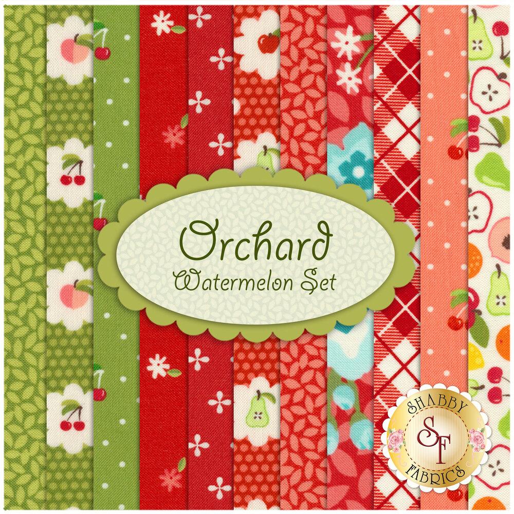 Orchard 11 FQ Set - Watermelon Set by Moda available at Shabby Fabrics
