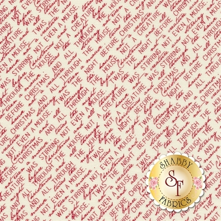Overnight Delivery 5702-11 Twas the Night Red for Moda Fabrics