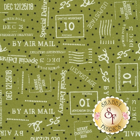 Overnight Delivery 5703-12 Special Delivery Light Green for Moda Fabrics