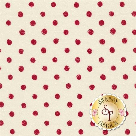 Overnight Delivery 5704-21 Snowballs Vanilla Red for Moda Fabrics