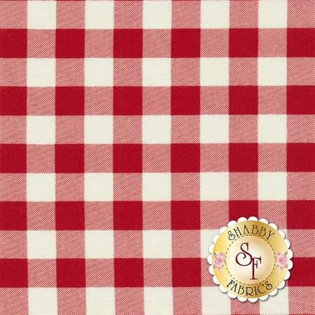 Overnight Delivery 5707-14 Buffalo Plaid Vanilla Red for Moda Fabrics