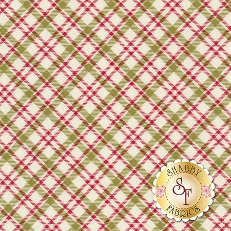 Overnight Delivery 5708-11 Plaid Red Green for Moda Fabrics