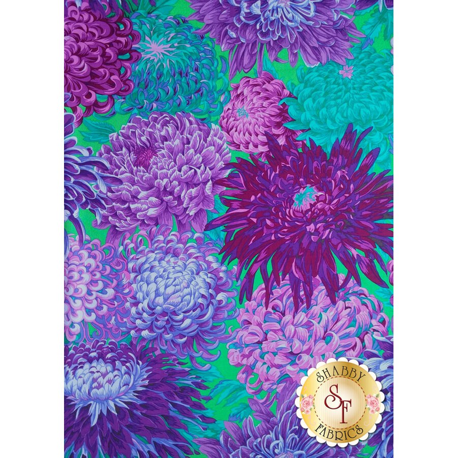 Kaffe Fassett Favorites PWPJ041.PURPL Fall 2011 Japanese Chrysanthemum Purple by Philip Jacobs for Westminster Fibers