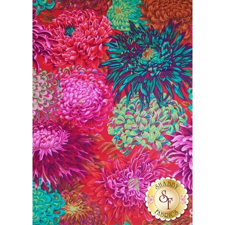 Kaffe Fassett Favorites PWPJ041.SCARL Fall 2011 Japanese Chrysanthemum Scarlet by Philip Jacobs for Westminster Fibers