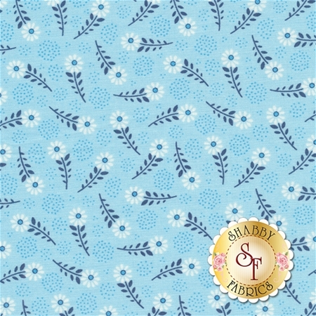 Parade On Main C6083-BLUE Blue Floral by Samantha Walker for Riley Blake Designs