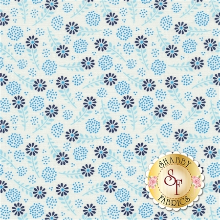 Parade On Main C6083-WHITE White Floral by Samantha Walker for Riley Blake Designs