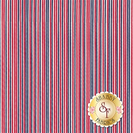 Parade On Main C6084-MULTI Multi Stripe by Samantha Walker for Riley Blake Designs
