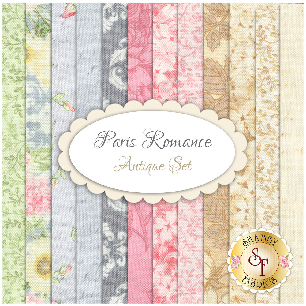 Paris Romance  12 FQ Set - Antique Set by Robert Kaufman Fabrics available at Shabby Fabrics