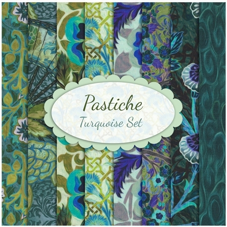 Pastiche  8 FQ Set - Turquoise Set by In The Beginning Fabrics