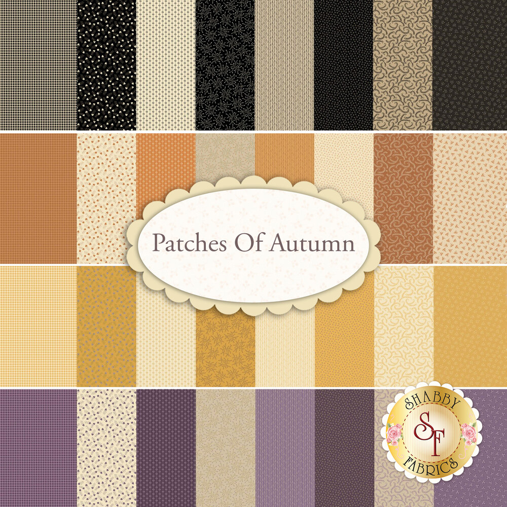 Patches Of Autumn  4 Half Yard Set by Marcus Fabrics