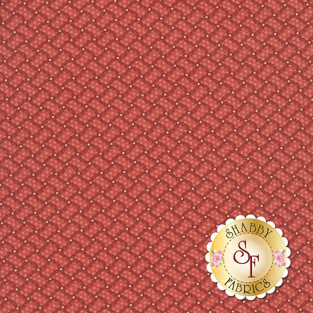 Pink wavy striped tonal fabric | Shabby Fabrics