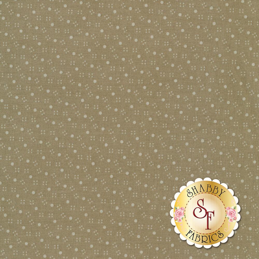 Tonal polka dots and smaller dots on a tan background | Shabby Fabrics