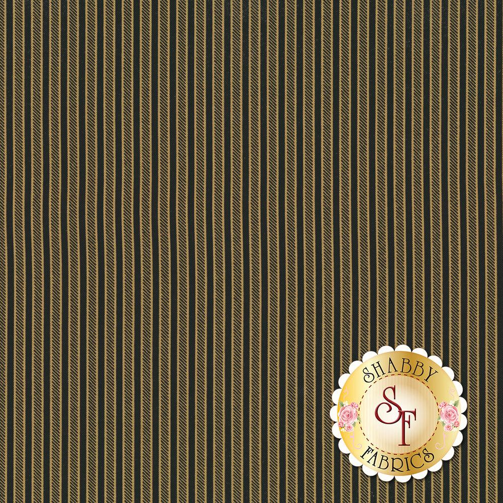 Tan stripes on a black background | Shabby Fabrics