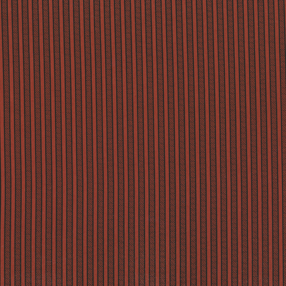 Black stripes on a red background | Shabby Fabrics