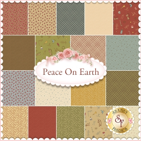Peace On Earth  18 Fat Eighth Set by Anni Downs for Henry Glass Fabrics