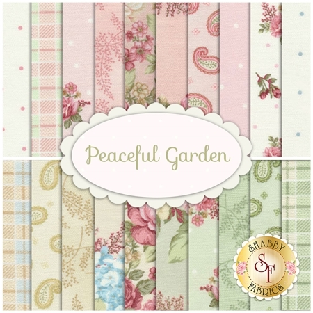 Peaceful Garden  20 FQ Set by Mary Jane Carey for Henry Glass Fabrics
