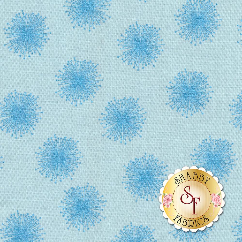 Pearl Reflections 8462P-05 Floating Dandelion by Benartex Fabrics available at Shabby Fabrics