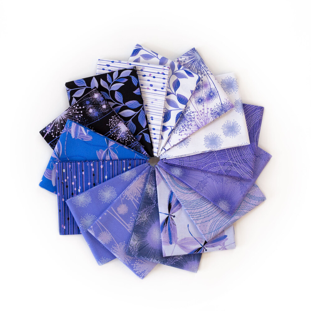Pearl Reflections Purple Fat Quarter Set by Benartex Fabrics available at Shabby Fabrics