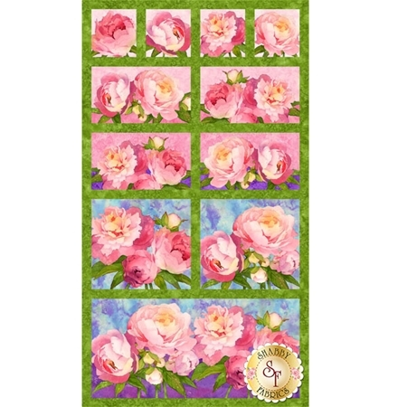 Peony Passion 21286-74 Panel by Lynnea Washburn for Northcott Fabrics
