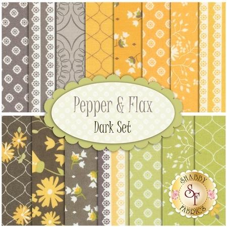 Pepper & Flax  15 FQ Set - Dark Set by Corey Yoder for Moda Fabrics