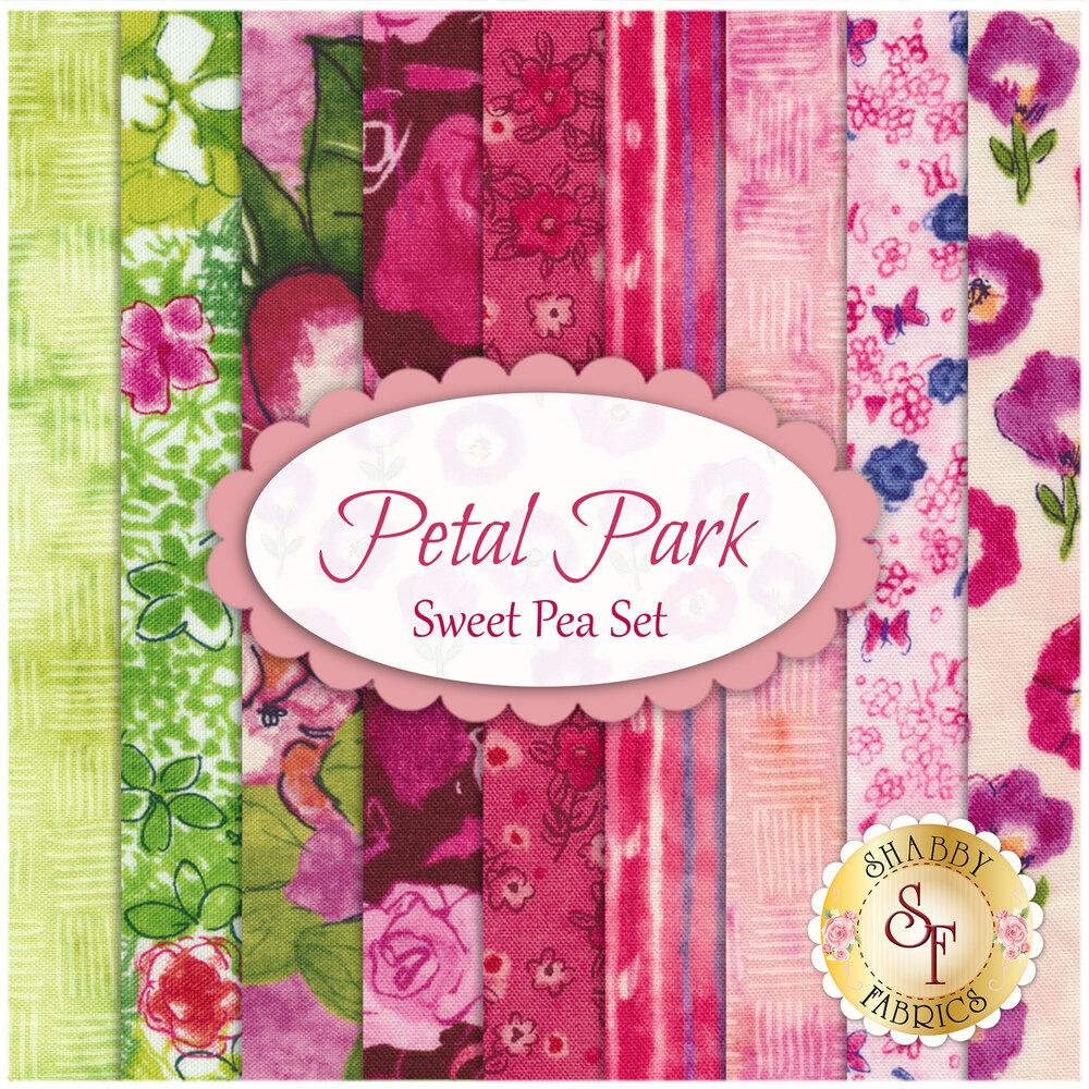 Petal Park  9 FQ Set - Sweet Pea Set by RJR Fabrics