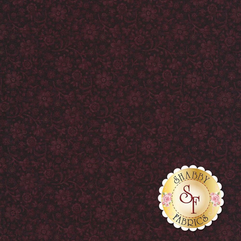 Tonal flower design on purple | Shabby Fabrics