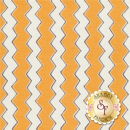Playground 1140604-01 Orange Zig Zags By Vita Mechachonis For Camelot Fabrics